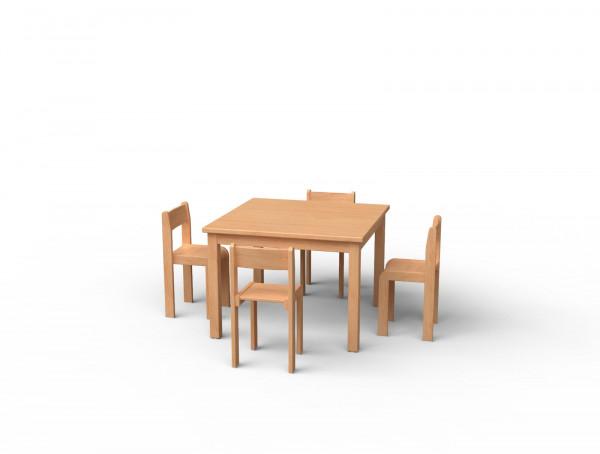 Stuhl und Tisch-Set Nr. 2