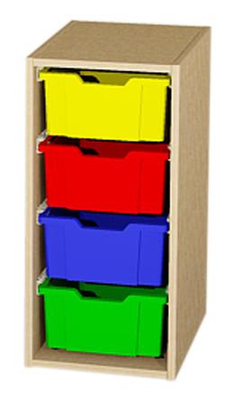 Materialcontainer als Aufsatz