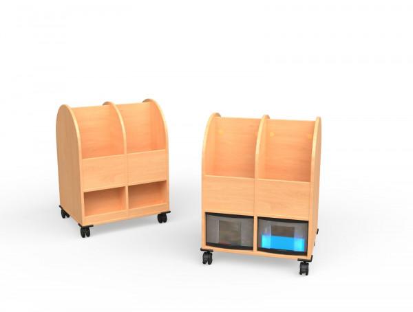 Bücherwagen 2-reihig