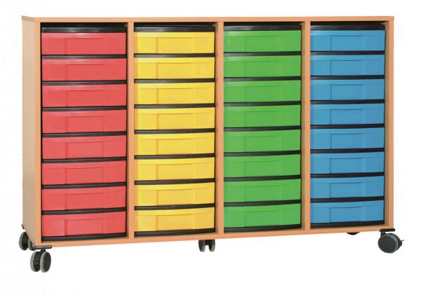 Materialcontainer 4-reihig