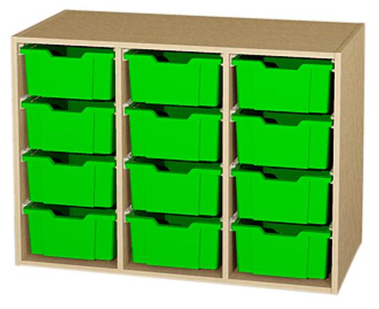 Materialcontainer 3-reihig als Aufsatz