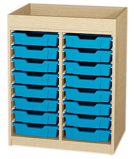 Materialcontainer 2-reihig mit Aufkantung
