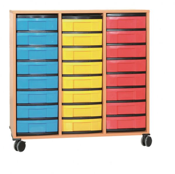 Materialcontainer 3-reihig